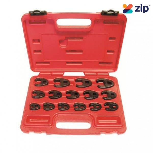 """KCTools 11221 - 15 Piece 3/8"""" & 1/2"""" Drive Crows Foot Metric Spanner Set Spanner"""