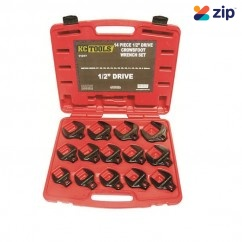 "KCTools 11317 - 14 Piece 1/2"" Drive Crows Foot Metric Impact Spanner Set Spanner"