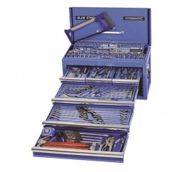 "Kincrome 21028 - BLUESTEEL 187 PCE 1/4, 3/8 & 1/2"" Square Drive Tool Chest Tool Boxes, Benches & Shelving"