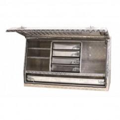Kincrome 51049 - 1430MM 5 Drawer Upright Aluminium Truck Box Ute & Truck Boxes