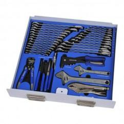 Kincrome EVA153T - 35 Piece EVA Tray AssortedGear Spanners, Pliers, Wrenches, Stripper & Riveter Tool Set Plier