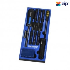 Kincrome EVA154T - 50 Piece EVA Tray Screw Driver/Torch/Pickup Tool Fastening & Bit Set Telescopic & Pick Up Tools