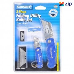 Kincrome K060022 - 2 Piece Lock-Back Folding Utility Knife Set Cutting