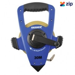 Kincrome K11200 - Imperial & Metic 30M 3x Rapid Rewind Fibreglass Tape Reel Measuring Tape