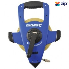 Kincrome K11201 - Imperial & Metic 50M 3x Rapid Rewind Fibreglass Tape Reel Measuring Tape