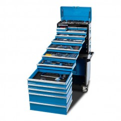 "Kincrome K1226 - 245 Piece 14 Drawer 1/4"", 3/8"" & 1/2"" Drive Evolution Tool Chest Workshop Tool Boxes & Trolleys"