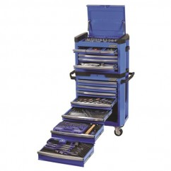 Kincrome K1501 - 329 Piece 15 Draw Electric Blue Combination Tool Kit Workshop Tool Boxes & Trolleys