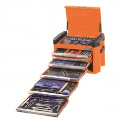 "Kincrome K1502O - 1/4, 3/8 & 1/2"" 328 PCE Square Drive Contour Tool Chest Workshop Tool Boxes & Trolleys"