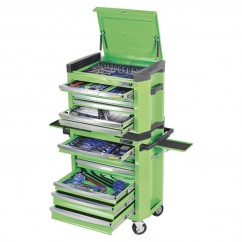 "Kincrome K1503G - 228 PCE 1/4, 3/8 & 1/2"" Square Drive Contour Tool Workshop Workshop Tool Boxes & Trolleys"
