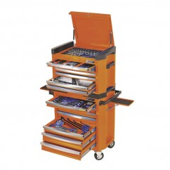 "Kincrome K1503O - 1/4, 3/8 & 1/2"" 228 PCE Square Drive Contour Tool Workshop Workshop Tool Boxes & Trolleys"
