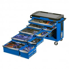 "Kincrome K1506 - 1/2, 3/8 & 1/2"" 485 PCE Square Drive Contour Tool Trolley Workshop Tool Boxes & Trolleys"