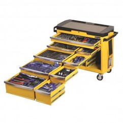 "Kincrome K1506Y - 1/2, 3/8 & 1/2"" 485 PCE Square Drive Contour Tool Trolley Workshop Tool Boxes & Trolleys"