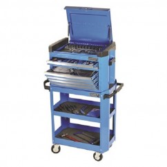 "Kincrome K1508 - 1/4, 3/8 & 1/2"" Square Drive 208 Piece Contour Tool Cart Kit Workshop Tool Boxes & Trolleys"