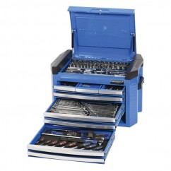 "Kincrome K1509 - 1/4, 3/8 & 1/2"" 207 PCE Square Drive Tool Chest Kit Workshop Tool Boxes & Trolleys"