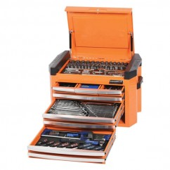 "Kincrome K1509O - 1/4, 3/8 & 1/2"" 207 PCE Square Drive Tool Chest Kit Workshop Tool Boxes & Trolleys"