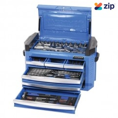 "Kincrome K1511 - 186 Piece 1/4"", 3/8"" & 1/2"" Drive Contour Slimline Tool Chest  Workshop Tool Boxes & Trolleys"