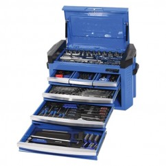 "Kincrome K1512 - 217 Piece 1/4"", 3/8"" & 1/2"" Drive Contour Slimline Tool Chest  Workshop Tool Boxes & Trolleys"