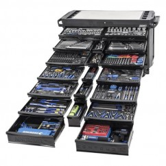 Kincrome K1562MB - 20 Drawer 674 Piece Black Contour Tool Trolley Kit