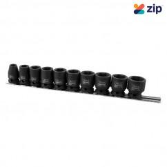 "Kincrome K2091 - 10 Piece Metric 3/8"" Drive Impact Socket Rail Sockets & Accessories"