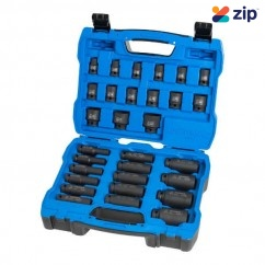 "Kincrome K2097 - 30 Piece Metric 1/2"" Drive Standard & Deep Impact Socket Set"