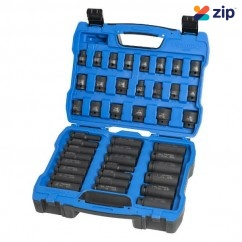 "Kincrome K2098 - 1/2"" Drive 42 PC Deep or Standard Impact Socket Set - Metric & Imperial"