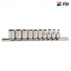 "Kincrome K2170 - 10 Piece 1/4"" Square Drive Socket Set On Rail Sockets & Accessories"