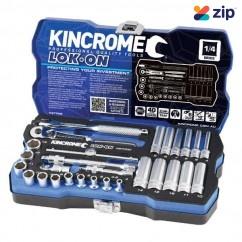 """Kincrome K27002 - 28 Piece 1/4"""" Square Drive Metric Lok-On Socket Set Socket Sets"""