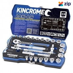 "Kincrome K27012 -  33 Piece 3/8"" Square Drive LOK-ON Socket Set"