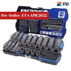"""Kincrome K27074 - LOK-ON 24 PCE 1/2"""" Square Drive Impact Socket Set Socket Sets"""