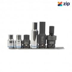 Kincrome K28036 - 6 Piece Metric 10MM On Clip Rail Single Size Socket Rail Set