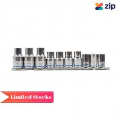 Kincrome K28038 - Single Size Socket Set 10mm On Clip Rail 10 Piece Metric Socket Sets