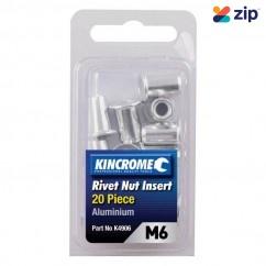Kincrome K4906 - 20 Piece M6 Aluminum Rivet Nut Insert