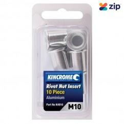 Kincrome K4910 - 10 Piece M10 Aluminum Rivet Nut Insert