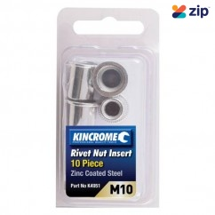 Kincrome K4951 - 10 Piece M10 Zinc Coated Steel Rivet Nut Insert