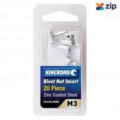 Kincrome K4953 - M3 (Zinc Coated Steel) 20 Pack Rivet Nut Insert Riveters and Nutserts