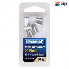 Kincrome K4954 - M4 (Zinc Coated Steel) 20 Pack Rivet Nut Insert Riveters and Nutserts