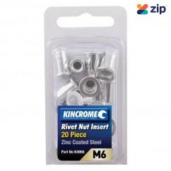 Kincrome K4956 - 10 Piece M6 Zinc Coated Steel Rivet Nut Insert