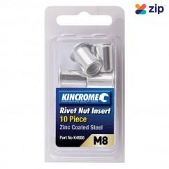 Kincrome K4958 - 10 Piece M8 Zinc Coated Steel Rivet Nut Insert