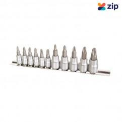 "Kincrome K5026 - 1/4 & 3/8"" Drive 11 Piece Phillips Socket Set - On Clip Rail"