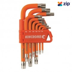 Kincrome K5145 - 9 Piece Short Series Tamperproof Torx Key Set Hex & Torx Key