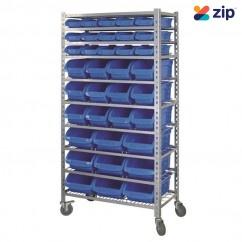 Kincrome K7107 - 36 Bin 10 Shelf Mobile Storage Rack Shelving & Tool Hanging