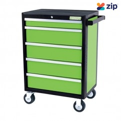 Kincrome K7655G - Evolve Tool Trolley 5 Drawer Green Workshop Tool Boxes & Trolleys