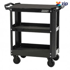 Kincrome K7743MB - CONTOUR 3 Tier Black Tool Cart Workshop Trolleys