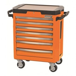 Kincrome K7747O - 7 Drawer Flame Orange Contour Tool Trolley Workshop Tool Boxes & Trolleys