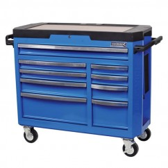 Kincrome K7759 - Contour 9 Drawer Electric Blue Tool Trolley Workshop Tool Boxes & Trolleys