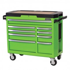Kincrome K7759G - 9 Drawer Monster Green CONTOUR Tool Trolley Workshop Tool Boxes & Trolleys
