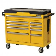 Kincrome K7759Y - 9 Drawer WASP YELLOW CONTOUR Tool Trolley Workshop Tool Boxes & Trolleys