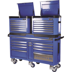 Kincrome K7863 - Contour 60 Superwide Trolley & Chest Combo 3 Piece Tool Kit