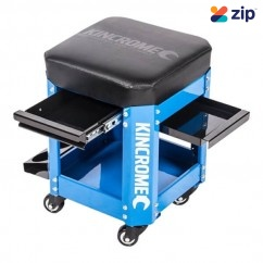 Kincrome K8114 - 2 Drawer Electric Blue Workshop Creeper Seat  Workshop Tool Boxes & Trolleys