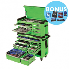 "Kincrome P1404G - 517 Piece 1/4, 3/8 & 1/2"" Square Drive Contour Tool Workshop Workshop Tool Boxes & Trolleys"
